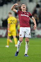 Declan Rice Of West Ham United At the Final Whistle Applause Fan's during West Ham United vs Burnley, Premier League Football at The London Stadium on 3rd November 2018