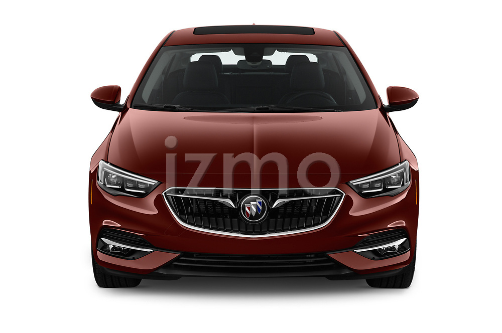 Car photography straight front view of a 2019 Buick Regal-Sportback Essence 5 Door Hatchback