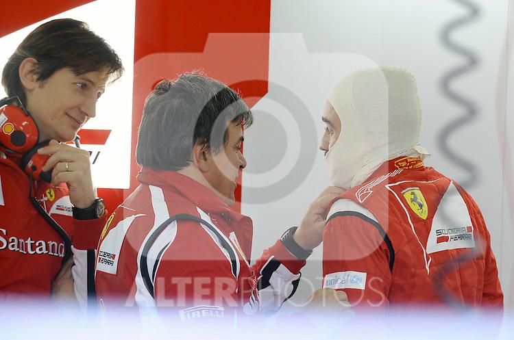 01.02.2011, Street Circuit. Jerez, ESP, Formel 1 Test 1 Valencia 2011,  im Bild Fernando Alonso (ESP),  Scuderia Ferrari Foto © nph / Dieter Mathis