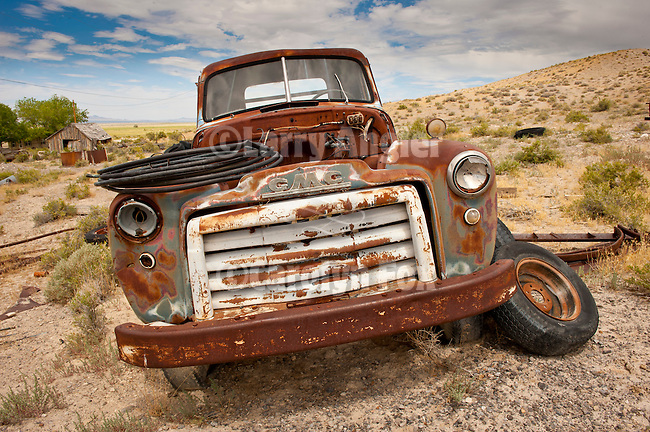 Abandoned truck in the Blue Eagle Ranch boneyard, Nev.
