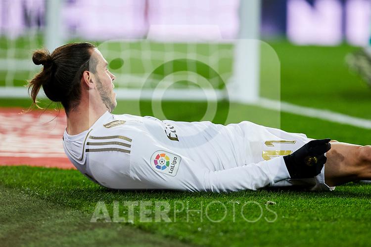 Gareth Bale of Real Madrid during La Liga match between Real Madrid and Real Sociedad at Santiago Bernabeu Stadium in Madrid, Spain. November 23, 2019. (ALTERPHOTOS/A. Perez Meca)