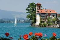 CHE, Schweiz, Kanton Bern, Berner Oberland, Oberhofen: Villa am Thunersee | CHE, Switzerland, Bern Canton, Bernese Oberland, Oberhofen: Villa at Lake Thun