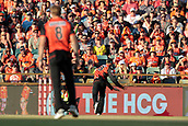 8th January 2018, The WACA, Perth, Australia; Australian Big Bash Cricket, Perth Scorchers versus Melbourne Renegades; Ashton Agar of the Perth Scorchers drops a catch hit by Aaron Finch of the Melbourne Renegades off the bowling of David Willey of the Perth Scorchers