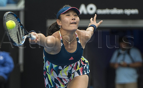 January 20th 2017, Melbourne Park, Melbourne, Australia; Ying-Ying Duan (CHN) during her match against Venus Williams (USA) in the third round of the 2017 Australian Open Tennis Grand Slam tournament; Williams won 6-1 6-0