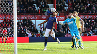 Ollie Watkins of Brentford keeps his eye on the ball during Brentford vs Millwall, Sky Bet EFL Championship Football at Griffin Park on 19th October 2019