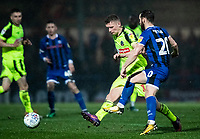 Bolton Wanderers' Ethan Hamilton competing with Rochdale's Jimmy Ryan (right) <br /> <br /> Photographer Andrew Kearns/CameraSport<br /> <br /> The EFL Sky Bet League One - Rochdale v Bolton Wanderers - Saturday 11th January 2020 - Spotland Stadium - Rochdale<br /> <br /> World Copyright © 2020 CameraSport. All rights reserved. 43 Linden Ave. Countesthorpe. Leicester. England. LE8 5PG - Tel: +44 (0) 116 277 4147 - admin@camerasport.com - www.camerasport.com