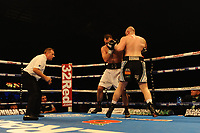 Nathan Gorman defeats Mohammed Soutry via six round knockout during a Boxing Show at the Metro Radio Arena on 11th November 2017