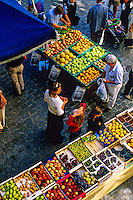 Saturday morning market, Bellinzona, Ticino, Switzerland