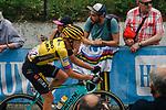 Koen Bouwman (NED) Team Jumbo-Visma climbs Mur de Huy during the 2019 La Fleche Wallonne, running 195km from Ans to Huy, Belgium, 24 April 2019.<br /> Photo by Thomas van Bracht / PelotonPhotos.com / Cyclefile