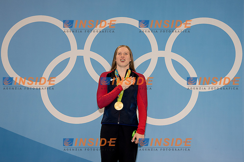 King Lilly USA gold medal<br /> 100 breaststroke women<br /> Rio de Janeiro  XXXI Olympic Games <br /> Olympic Aquatics Stadium <br /> swimming finals 08/08/2016<br /> Photo Giorgio Scala/Deepbluemedia/Insidefoto