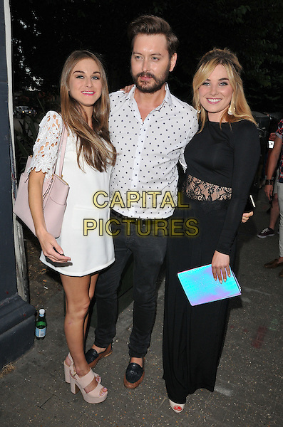 LONDON, ENGLAND - JULY 23: Nikki Grahame, Brian Dowling &amp; Sian Welby attend the RUComingOut.com summer party, Royal Vauxhall Tavern, Kennington Lane, on Thursday July 23, 2015 in London, England, UK.  <br /> CAP/CAN<br /> &copy;Can Nguyen/Capital Pictures