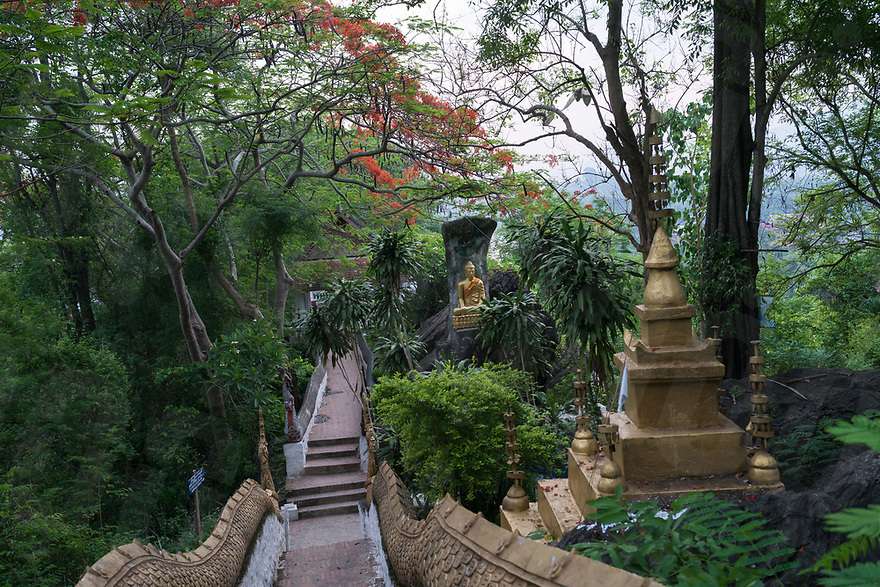 May 06, 2017 - Luang Prabang (Laos). View of the stairs up to Mount Phousi. © Thomas Cristofoletti / Ruom