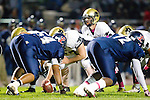 Lawndale, CA 10/21/11 - Arthur Fischer (Peninsula #67) and Matt Imwalle (Peninsula #17) in action during the Peninsula - Leuzinger varsity football game.