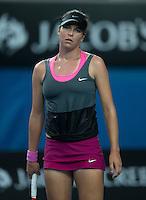 AJLA TOMLJANOVIC (CRO)<br /> <br /> Tennis - Australian Open - Grand Slam -  Melbourne Park -  2014 -  Melbourne - Australia  - 16th January 2013. <br /> <br /> &copy; AMN IMAGES, 1A.12B Victoria Road, Bellevue Hill, NSW 2023, Australia<br /> Tel - +61 433 754 488<br /> <br /> mike@tennisphotonet.com<br /> www.amnimages.com<br /> <br /> International Tennis Photo Agency - AMN Images