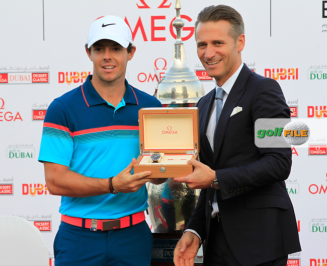 Rory MCILROY (NIR) wins the tournament by 3 shots with a score of -22 at the end of Sunday's Final Round of the 2015 Omega Dubai Desert Classic held at the Emirates Golf Club, Dubai, UAE.: Picture Eoin Clarke, www.golffile.ie: 2/1/2015