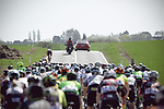 The peleton in action during La Fleche Wallonne Femmes 2018 running 118.5km from Huy to Huy, Belgium. 18/04/2018.<br /> Picture: ASO/Thomas Maheux | Cyclefile.<br /> <br /> All photos usage must carry mandatory copyright credit (© Cyclefile | ASO/Thomas Maheux)