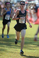 NWA Democrat-Gazette/ANDY SHUPE<br /> Bentonville's Dawson Mayberry nears the finish line Saturday, Oct. 5, 2019, during the Chile Pepper Cross Country Festival at Agri Park in Fayetteville. Visit nwadg.com/photos to see more photographs from the races.