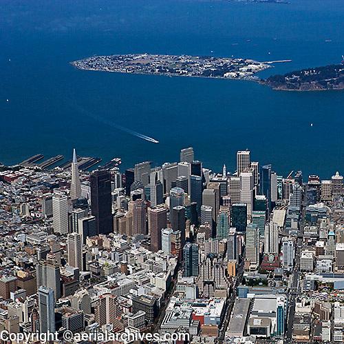 aerial photograph Treasure Island San Francisco financial district