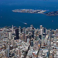 aerial photograph Treasure Island San Francisco financial district
