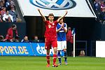 Duitsland, Gelsenkirchen, 22 september  2012.Seizoen 2012/2013.Bundesliga.Schalke 04-Bayern Munchen 0-2.Thomas Muller juicht na het scoren van de 0-2