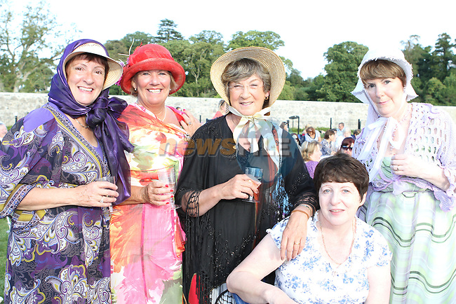Pamela Mullen, Imelda Murphy, Sheila McCann, Evelyn Rooney and Mary Corcoran at the outdoor performance of Sense and Sensibility at Oldbridge House...(Photo credit should read Jenny Matthews www.newsfile.ie)....This Picture has been sent you under the conditions enclosed by:.Newsfile Ltd..The Studio,.Millmount Abbey,.Drogheda,.Co Meath..Ireland..Tel: +353(0)41-9871240.Fax: +353(0)41-9871260.GSM: +353(0)86-2500958.email: pictures@newsfile.ie.www.newsfile.ie.