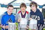 Junior success: Castleisland Community College lads Cian Brosnan, David Reidy and Shane McKenna who were delighted with their Junior Cert results on Wednesday..