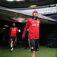SEATTLE, WA - NOVEMBER 9: Michael Bradley #4 of Toronto FC takes the field at CenturyLink Field on November 9, 2019 in Seattle, Washington.