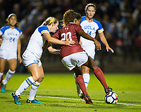 STANFORD, CA - September 27, 2018:  at Stanford Stadium. The Stanford Cardinal defeated the UCLA Bruins, 3-2.