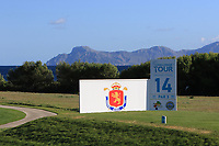 The 14th tee during Round 3 of the Challenge Tour Grand Final 2019 at Club de Golf Alcanada, Port d'Alcúdia, Mallorca, Spain on Saturday 9th November 2019.<br /> Picture:  Thos Caffrey / Golffile<br /> <br /> All photo usage must carry mandatory copyright credit (© Golffile | Thos Caffrey)