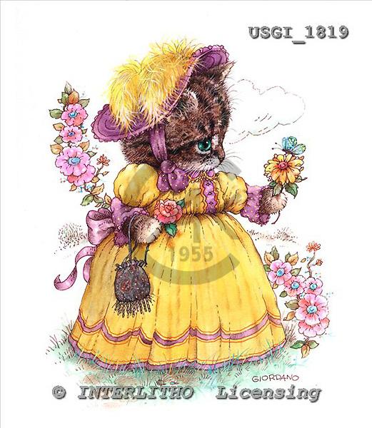 GIORDANO, CUTE ANIMALS, LUSTIGE TIERE, ANIMALITOS DIVERTIDOS, Teddies, paintings+++++,USGI1819,#AC# teddy bears