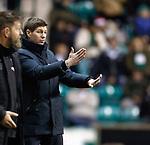 19.12.2018 Hibs v Rangers: Steven Gerrard