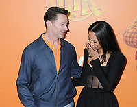 "07 April 2019 - New York, New York - Hugh Jackman and Zoe Saldana at the New York Premiere of ""MISSING LINK"", held at Regal Cinemas Battery Park II.<br /> CAP/ADM/LJ<br /> ©LJ/ADM/Capital Pictures"