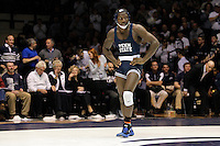 STATE COLLEGE, PA - FEBRUARY 16: Ed Ruth of the Penn State Nittany Lions stands on the mat during a match against of the Oklahoma State Cowboys on February 16, 2014 at Rec Hall on the campus of Penn State University in State College, Pennsylvania. Penn State won 23-12. (Photo by Hunter Martin/Getty Images) *** Local Caption *** Ed Ruth