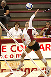 Rachel Todorovich (#7) is shown during a Washington State match at Bohler Gym in Pullman, Washington, on September 11, 2009.