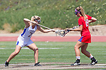 Torrance, CA 05/11/13 - Grace Schmidt-Beck (Los Alamitos #19) and Talia Fiance (Agoura #7) during the 2013 Los Angeles/Orange County Championship game between Los Alamitos and Agoura.  Los Alamitos defeated Agoura 19-4.