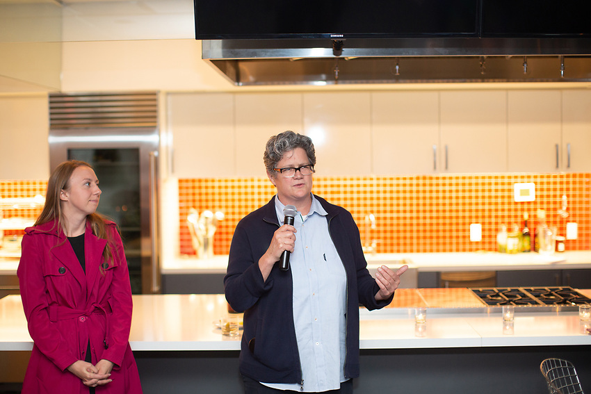 New York, NY - May 8, 2018:  Slow Food New York City honors Chef Michael Anthony as this year's Snailblazer at God's Love, We Deliver in SoHo.<br /> <br /> <br /> CREDIT: Clay Williams for Slow Food New York City.<br /> <br /> &copy; Clay Williams / http://claywilliamsphoto.com