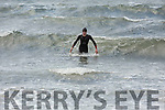 Cillian Tierney from the Spa Tralee first out of the water from the Slip to Shore swim as part of the Ballyheigue Summer Festival..