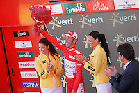 Joaquin Rodriguez with the red jersey of leader after the stage of La Vuelta 2012 between Vilagarcia de Arousa and Mirador de Erazo (Dumbria).August 30,2012. (ALTERPHOTOS/Acero) /NortePhoto.com<br />