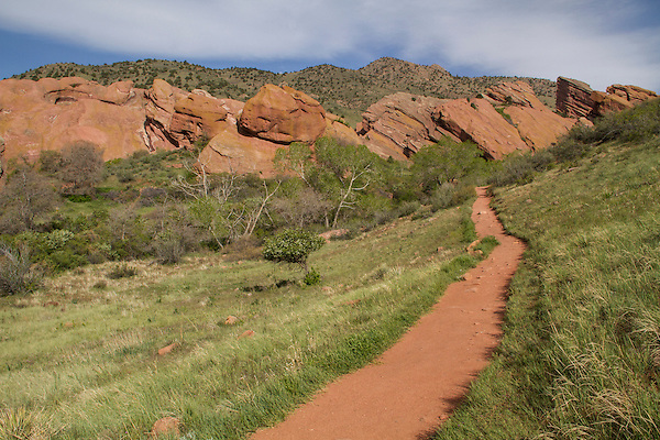Hiking trail at Roxborough State Park, Colorado.  John leads hiking and photo tours throughout Colorado. Year-round.