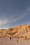 Israel, the Negev desert. Wadi Shani, the way to the Red Canyon