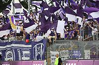 Fans aus Aue - 13.05.2018: SV Darmstadt 98 vs. FC Erzgebirge Aue, Stadion am Boellenfalltor, 34. Spieltag 2. Bundesliga