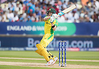 Steve Smith (Australia) pulls a short delivery behind square during Australia vs England, ICC World Cup Semi-Final Cricket at Edgbaston Stadium on 11th July 2019