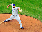 24 April 2010: Los Angeles Dodgers' relief pitcher Jonathan Broxton on the mound against the Washington Nationals at Nationals Park in Washington, DC. The Dodgers edged out the Nationals 4-3. Mandatory Credit: Ed Wolfstein Photo