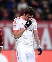 FUSSBALL   1. BUNDESLIGA  SAISON 2012/2013   12. Spieltag 1. FC Nuernberg - FC Bayern Muenchen      17.11.2012 Mario Mandzukic (FC Bayern Muenchen)