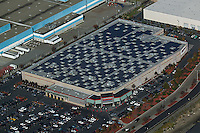 aerial photography solar panel roof top Costco warehouse Richmond, Contra Costa county California