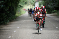 Dennis Van Endert (BEL/Lotto-Soudal) leading the troops tucked in<br /> <br /> stage 3: Buchten-Buchten (190km)<br /> 29th Ster ZLM Tour 2015