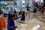 Kids hula hoop at the Little Galleria Halloween Spooktacular presented by MD Anderson Children's Cancer Hospital at The Galleria Sunday Oct. 30,2016.(Dave Rossman photo)