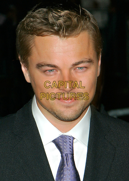 "LEONARDO DiCAPRIO .""The Departed"" Film Premiere held at Ziegfeld Theatre,.New York City, New York, USA,.25th September 2006..portrait headshot blue tie leo di caprio beard stubble.Ref: ADM/JL.www.capitalpictures.com.sales@capitalpictures.com.©Jackson Lee/AdMedia/Capital Pictures."