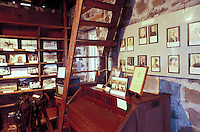 Displays of historical photographs and artifacts within the Greenwell Store, the museum of the Kona Historical Society, Big Island