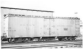 Side view of D&amp;RGW short reefer #72 at Chama.<br /> D&amp;RGW  Chama, NM  Taken by Searle, - 7/5/1940
